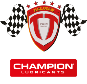 Belgian Twin Trophy Champion Champion White Letters
